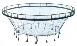 Schematic diagram of a marine cage culture unit.