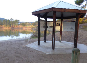 information hut at lake sambell