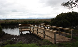 A new fishing platform provides convenient access to Tarra River.