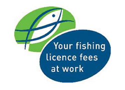 Your fishing licence fees at work logo