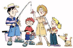 fishing_family Illustration