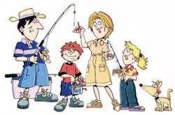 fishing_family Illustration