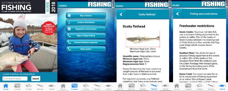 Fishing app screenshots 2018