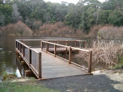 New fishing platform on Jubilee Lake, Daylesford