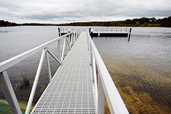 New fishing platform at Devilbend Reservoir