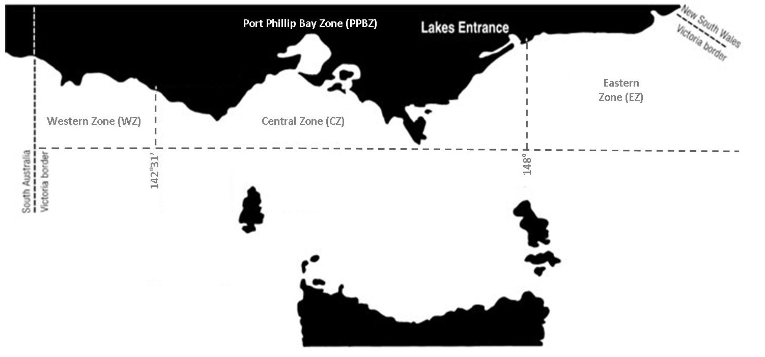 Commercial sea urchin fishery management zones