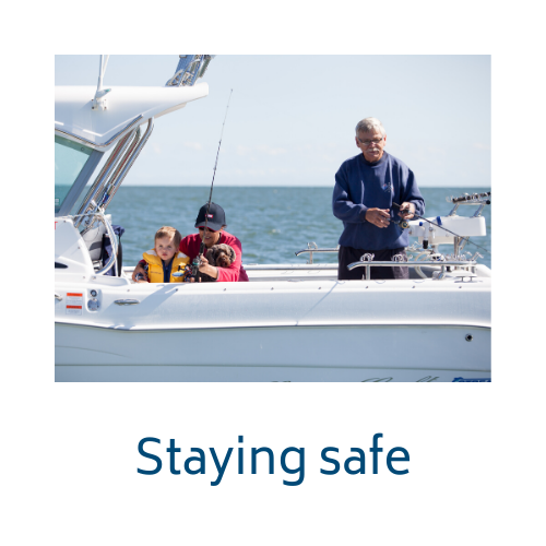 Staying safe while fishing link