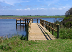 Fishing platform installed at Merriman's Creek, Seaspray
