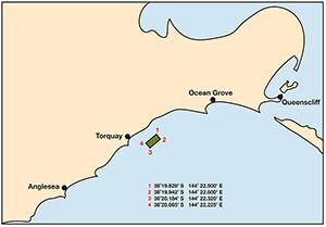 Tourquay Reef Location map